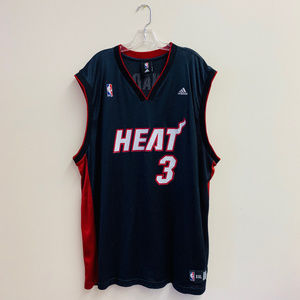 adidas Shirts - Dwyane Wade NBA Miami Heat authentic jersey